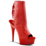 Rouge Mat 16 cm DELIGHT-1018 Plateforme Bottines
