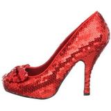 Rouge Paillettes 11,5 cm OZ-06 Chaussures Escarpins de Soirée