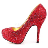 Rouge Pierres Scintillantes 13,5 cm FELICITY-20 Chaussures femmes a talon