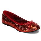 Rouge STAR-16G etincelle chaussures ballerines femmes plates