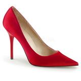 Rouge Satin 10 cm CLASSIQUE-20 Escarpins Talon Aiguille Femmes