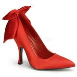Rouge Satin 12 cm BOMBSHELL-03 Escarpins Chaussures Femme