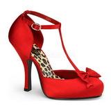 Rouge Satin 12 cm retro vintage CUTIEPIE-12 escarpins à talons hauts