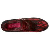 Rouge Satin 14,5 cm Burlesque TEEZE-07L Escarpins Talons Hauts Plateforme