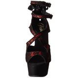 Rouge Satin 15 cm Pleaser DELIGHT-678LC Plateforme Talons Hauts