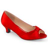 Rouge Satin 5 cm FAB-422 grande taille escarpins femmes
