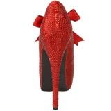 Rouge Strass 14,5 cm Burlesque TEEZE-04R Talons Aiguilles Escarpins