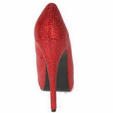 Rouge Strass 14,5 cm Burlesque TEEZE-06R Talons Aiguilles Escarpins