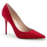 Rouge Suède 10 cm CLASSIQUE-20 Escarpins Talon Aiguille Femmes