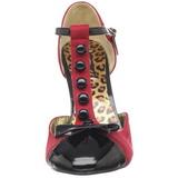 Rouge Suede 10 cm SMITTEN-10 Escarpins Chaussures Femme