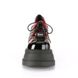 Rouge Vegan 12,5 cm STOMP-08 bottines plateforme compensées lolita