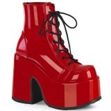 Rouge Vegan 13 cm CAMEL-203 bottines demonia plateforme