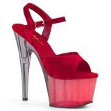 Rouge Velours 18 cm ADORE-709MCT sandales de pole dance