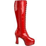 Rouge Verni 10,5 cm EXOTICA-2020 Bottes à Lacets Femmes