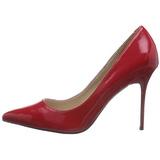 Rouge Verni 10 cm CLASSIQUE-20 escarpins à talon aiguille bout pointu
