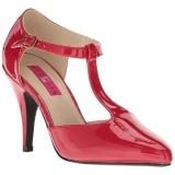 Rouge Verni 10 cm DREAM-425 grande taille escarpins femmes