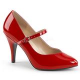 Rouge Verni 10 cm DREAM-428 grande taille escarpins femmes