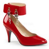 Rouge Verni 10 cm DREAM-432 grande taille escarpins femmes