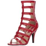 Rouge Verni 10 cm DREAM-438 grande taille bottines femmes