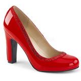 Rouge Verni 10 cm QUEEN-04 grande taille escarpins femmes