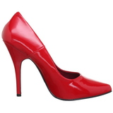 Rouge Verni 10 cm VANITY-420 escarpins à bout pointu
