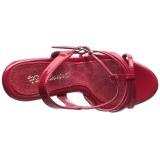 Rouge Verni 12 cm FLAIR-420 Sandales Femme à Talon