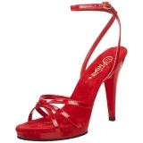Rouge Verni 12 cm FLAIR-436 Sandales Femme a Talon