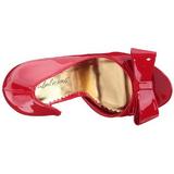 Rouge Verni 12 cm LUMINA-32 Chaussures Escarpins de Soirée