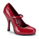 Rouge Verni 12 cm PRETTY-50 Escarpins Chaussures Femme