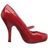 Rouge Verni 12 cm retro vintage CUTIEPIE-02 escarpins mary jane plateforme cachée