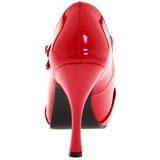 Rouge Verni 12 cm retro vintage CUTIEPIE-08 Escarpin Bout Ouvert