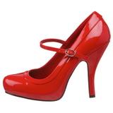 Rouge Verni 12 cm rockabilly PRETTY-50 escarpins à talons hauts