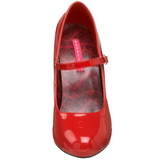 Rouge Verni 12 cm rockabilly TEMPT-35 escarpins à talons hauts
