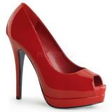 Rouge Verni 13,5 cm BELLA-12 Escarpins Talon Aiguille Femmes