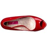 Rouge Verni 13,5 cm CHLOE-01 grande taille escarpins femmes