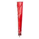 Rouge Verni 13,5 cm INDULGE-3000 Cuissardes Haut Talon
