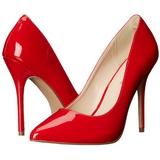 Rouge Verni 13 cm AMUSE-20 Escarpins Talon Aiguille Femmes