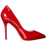 Rouge Verni 13 cm AMUSE-20 escarpins à talon aiguille bout pointu