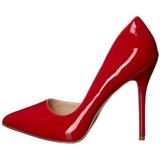 Rouge Verni 13 cm AMUSE-22 Chaussures Escarpins Classiques