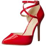 Rouge Verni 13 cm AMUSE-25 Chaussures Escarpins de Soirée