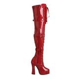 Rouge Verni 13 cm ELECTRA-3028 Bottes Cuissardes Talons Hauts