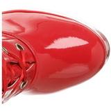 Rouge Verni 13 cm ELECTRA-3028 bottes cuissardes hommes