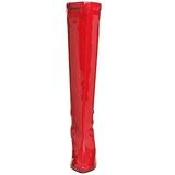 Rouge Verni 13 cm Pleaser SEDUCE-2000 Bottes Femmes