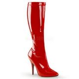 Rouge Verni 13 cm SEDUCE-2000 Bottes Femmes pour Hommes