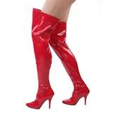 Rouge Verni 13 cm SEDUCE-3000 Cuissardes Bottes pour Hommes