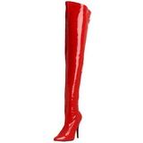 Rouge Verni 13 cm SEDUCE-3000 bottes cuissardes hommes
