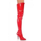 Rouge Verni 13 cm SEDUCE-3000 bottes overknee femme