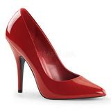 Rouge Verni 13 cm SEDUCE-420 Escarpins Talons Aiguilles Hommes