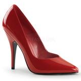 Rouge Verni 13 cm SEDUCE-420V Escarpins Talons Aiguilles Hommes