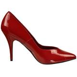 Rouge Verni 13 cm SEDUCE-420V escarpins à bout pointu